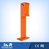 Téléphone d'urgence avec colonne de support, station d'appel Sos