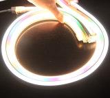 Luz flexible LED, luz decorativa el 100m de la cuerda redonda de 10m m de la cuerda del LED con el Ce RoHS del TUV