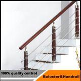 Acero inoxidable de alta calidad cuatro pies de pasamanos para el proyecto