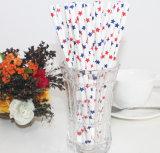Colorido de la boda del lunar de vajilla decoración de papel de paja