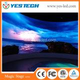 P2.84によって曲げられる屋内広告のフルカラーの電子LED表示印