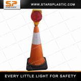 75cm Gummi-Unterseite PET Verkehrs-Kegel für Verkehrs-Warnleuchten
