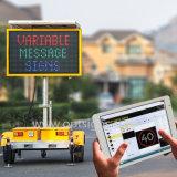 Contrassegno programmabile alimentato solare del messaggio variabile LED di traffico di colore portatile elettronico VM dei sistemi