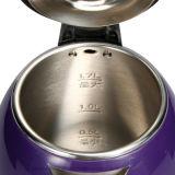 1.7 Liter-purpurrotes doppelte Schicht-Hotel-drahtloser elektrischer Tee-Kessel