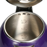 1,7 litros de Doble Capa de color púrpura eléctrico inalámbrico Hotel Tetera