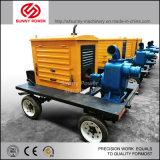 De Pomp van het Water van de Dieselmotor van de Irrigatie van de landbouw die met Aanhangwagen voor Verkoop wordt geplaatst