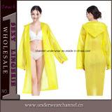 Poncho-Regenkleidung-Regen-Mantel der Dame-Transparent Plastic PVC EVA (SK-A301)