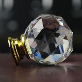 Треугольник вырезать поверхности прозрачных очистить белый 40мм Crystal мебель ручки