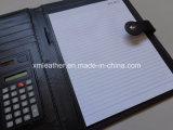 Button Fermeture Black PU Portefeuille d'écriture en cuir pour étudiants