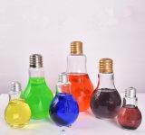 透過300ml 500mlの電球の形ガラスジュースのびん