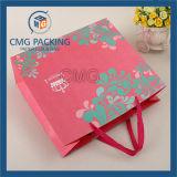 Coloré blanc élégant sac en papier cosmétique (DM-GPBB-166)