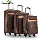 Кожаный тележка багажа 4 Колеса мешок для багажного отделения мужчин в сумку