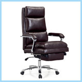현대 가죽 철 팔걸이 회전대 Recliner 사무용 가구 사무실 의자 (WH-OC038)