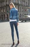 Куртка джинсовой ткани одежд женщин высокого качества новая Stretchy тонкая