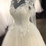 Heißer SpitzeApplique, der Hochzeits-Kleid bördelt
