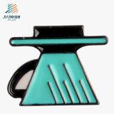 Emblema feito sob encomenda de carimbo relativo à promoção da tecla da forma do metal macio do esmalte
