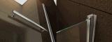 het Eenvoudige Stileren van 6mm met het Scherm van de Douche van het Glas van de Badkuip van het Handvat