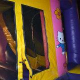 Castelo inflável do Bouncer dos desenhos animados da cor-de-rosa quente do Sell para miúdos