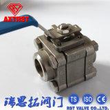 3PC het drijven van de 1000wog Ingepaste Kogelklep van het Roestvrij staal (Q11F)