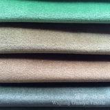 La breve lucentezza del velluto del mucchio ha rifinito il tessuto del poliestere per i coperchi del sofà