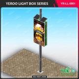 L'énergie solaire en acier de la publicité rétroéclairé Lampadaire Boîte à lumière