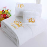 ホテルのためのカスタマイズされた刺繍の綿32s/2の高密度浴室タオル