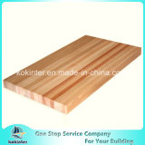 Tablón de madera de pino, bloque de carnicero de madera de la encimera de la tarjeta de la decoración de la compresa