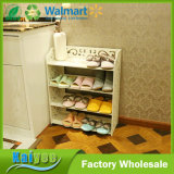 4 디자인 판매를 위한 목제 진열장 저장 단화 선반을 층을 이룬다