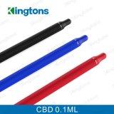 Petróleo electrónico Cbd del cigarrillo 0.1ml de la extremidad redonda de Kingtons con la batería 280mAh