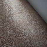 壁カバーのための銀製ラインドラゴンデザインのどPVC革