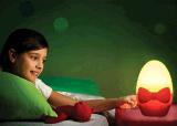 Lâmpada energy-saving da noite do sensor da luz da noite da parede da indução do bulbo da noite da parede do ovo