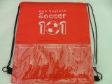 파란 주문을 받아서 만들어진 인쇄된 졸라매는 끈 책가방