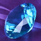 Rose cristal de verre de pierres précieuses Diamond Bijou pour la décoration