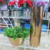 Décoration extérieure personnalisée Grand vase en fleur en acier inoxydable