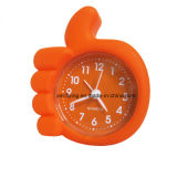 Décoration de la chambre à coucher Double Bell Sound off Silicone Mini-table Alarm Clock