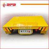 Carretilla industrial eléctrica de la manipulación de materiales de la planta de la fundición en los carriles