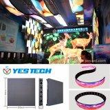 Alquiler que hace publicidad de la muestra flexible de interior de la visualización de LED