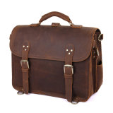 Retro 작풍 주말을%s 큰 미친 말 가죽 여행 더플 가방을 주문 설계하십시오