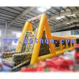 Ligne mobile gonflable personnalisée constructeur/grande de fermeture éclair ligne gonflable de fermeture éclair