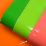Couro do plutônio da patente do falso do lustro da fluorescência para a sapata do saco