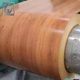 CGCC strich hölzerne Korn-Farben-Tinte PPGI Stahlring mit PET Film für Tür an