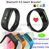 Bracelete esperto da frequência cardíaca com Bluetooth 4.0 (V6)