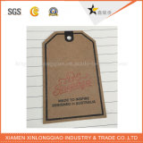 Etiqueta de encargo de la caída de la ropa de la ropa de las etiquetas del arte de la impresión de papel de la escritura de la etiqueta
