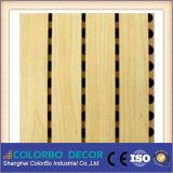 Panneau acoustique en bois perforé en bois MDF de finition de placage