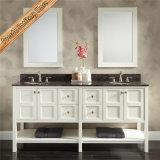 Vanità moderna bianca della stanza da bagno della lacca con lo specchio