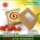 Rectángulo cuadrado de los alimentos de preparación rápida con la ventana