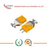 Plugue do par termoeléctrico/conetor diminutos (tipo E/K/J/T/N/R/S)