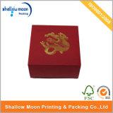 Rode Doos Cardpaper met Gouden Zegel Aangepaste Verpakkende Doos