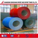 Material de construcción de techo galvanizado recubierto de bobinas de acero PPGI Color