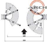 A China Post dois equipamentos de reparação de elevação Carro automático com marcação CE